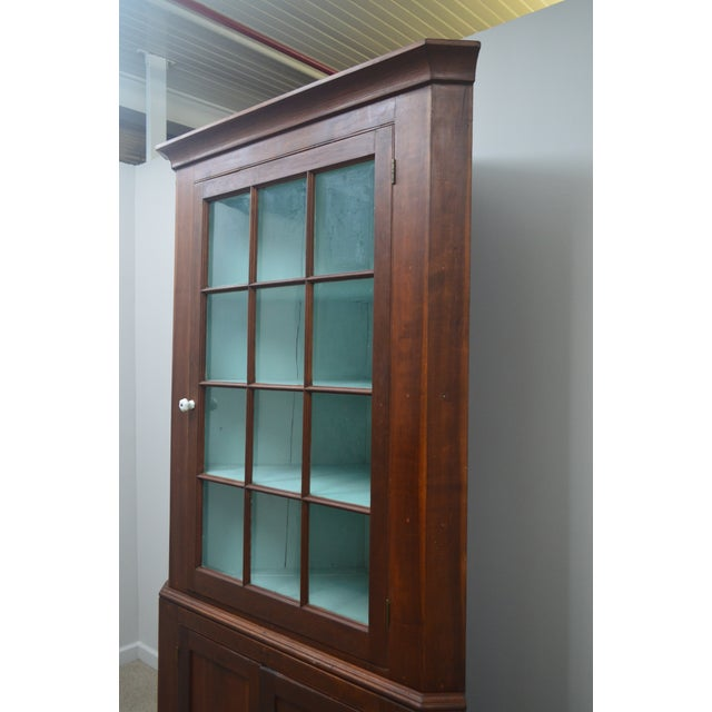 Late 19th Century 19th Century Antique Pine China Cabinet For Sale - Image 5 of 12