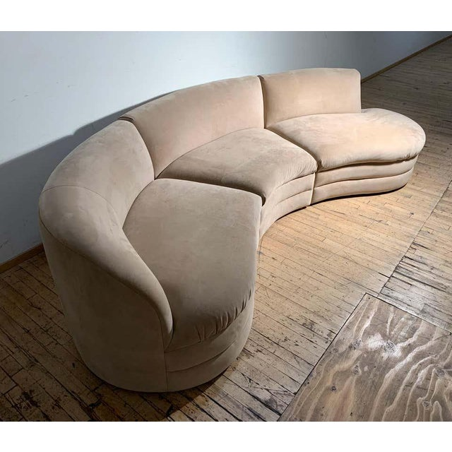 Beige Vintage Sectional Cloud Sofa attributed to Vladimir Kagan For Sale - Image 8 of 13