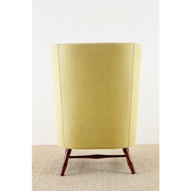 Westcott Citron Linen Wing Chair by Bunny Williams For Sale - Image 12 of 13