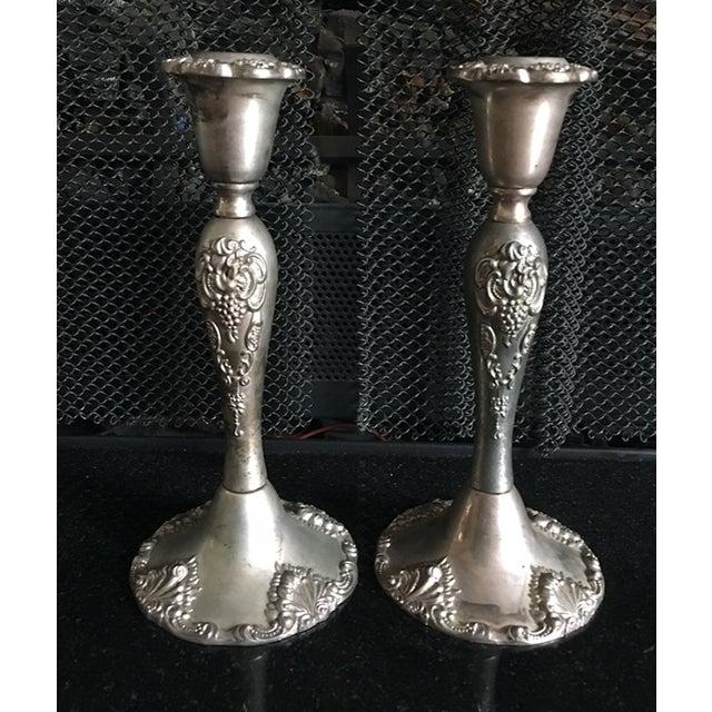 Vintage Godinger Silverplate Candlesticks - A Pair - Image 3 of 5