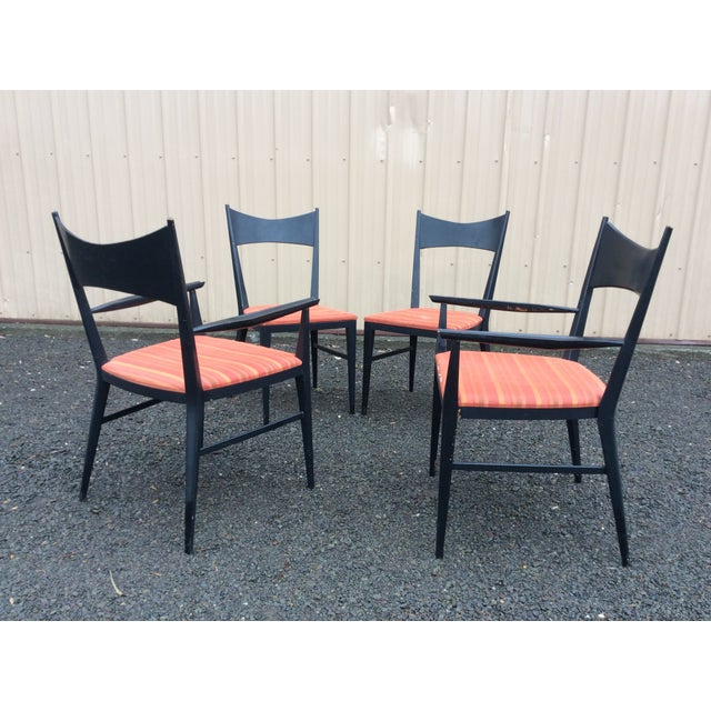 Black Paul McCobb Calvin Furniture Dining Chairs - 4 For Sale - Image 8 of 10
