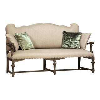 Art Nouveau Upholstered Settee For Sale