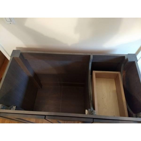 Solid Wood Grey Bathroom Vanity - Image 3 of 6