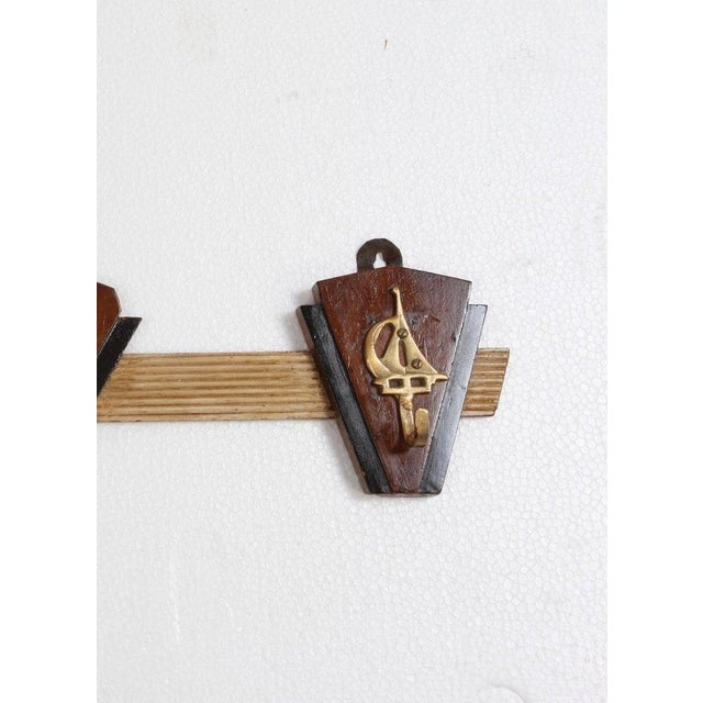 Mid 20th Century Nautical Coat Hooks From 1970s Cruise Ship For Sale - Image 5 of 6