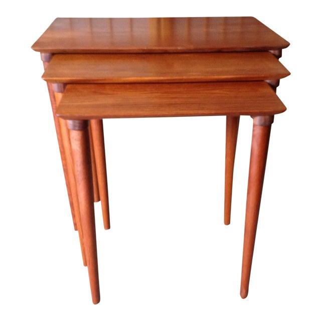 Danish Teak Nesting Tables - Set of 3 - Image 1 of 5