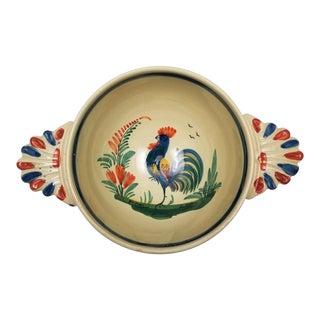 Antique Quimper Lug Bowl For Sale
