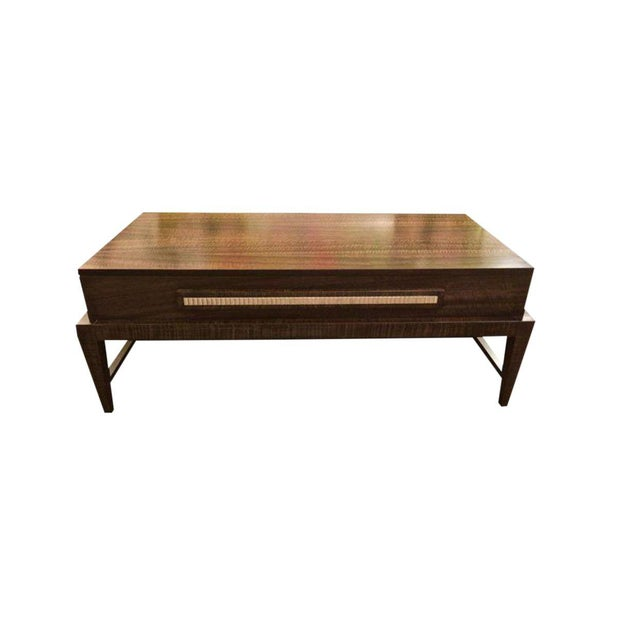 Brown 2010's Mid Century Modern Coffee Table For Sale - Image 8 of 8