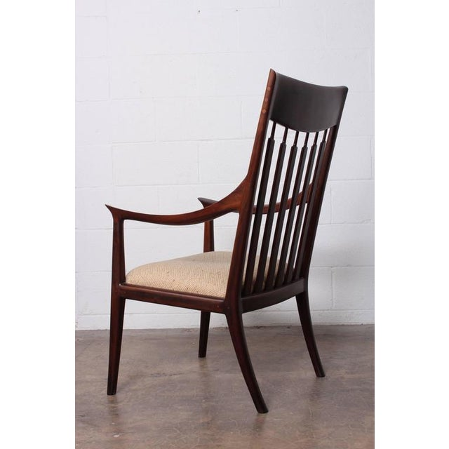 Walnut Craft Armchair by John Nyquist - Image 4 of 10