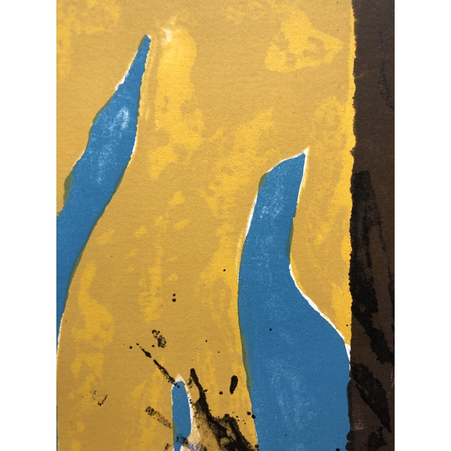 Adja Yunkers 1966 Abstract Lithograph New York Artist For Sale - Image 4 of 10