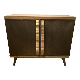 Modern Hickory White Bond Bar Cabinet For Sale