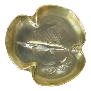 Vintage Bronze Trinket Dish For Sale