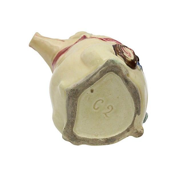 Majolica Antique Majolica Satyrical Pig W/ Ham Jug For Sale - Image 4 of 5