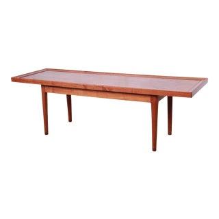 Kipp Stewart for Drexel Declaration Mid-Century Modern Walnut Coffee Table, 1961 For Sale