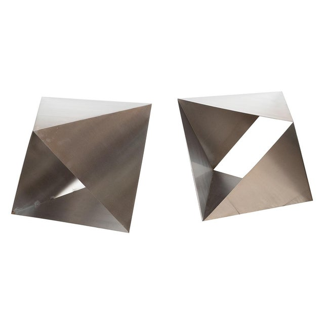 1970s Modular Polyhedron Side Tables by Manfredo Massironi For Sale - Image 5 of 12