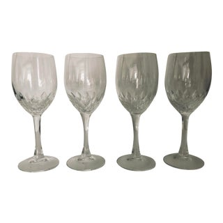 Red Wine Crystal Wine Glasses S-4 C.1980's For Sale