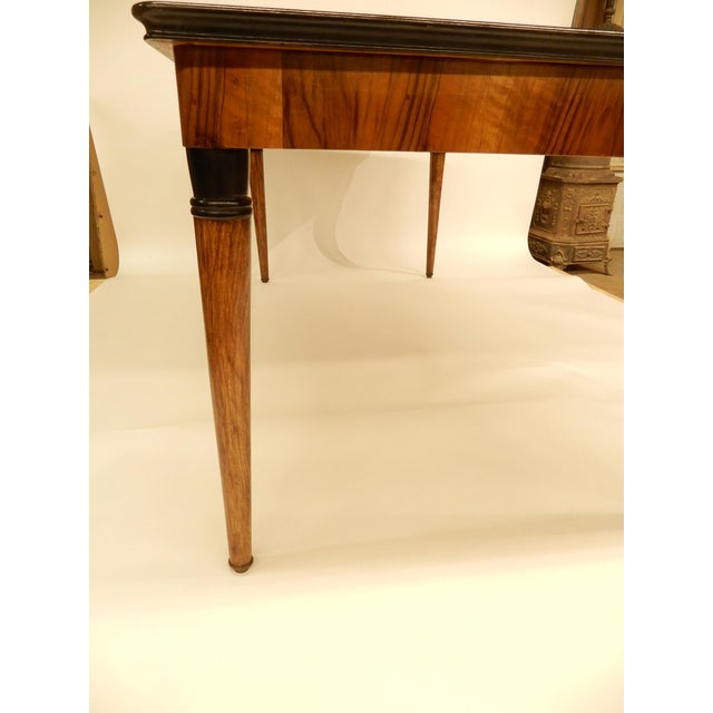 1940's French Veneered Walnut Dining Table For Sale - Image 4 of 8