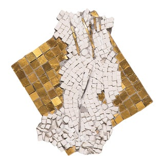 """Damaged Vi"" Mosaic Wall Sculpture by Toyoharu Kii For Sale"