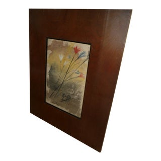 Flower Still Life American Watercolor Painting in Original Frame by Gwen Lux 1908-2001 For Sale