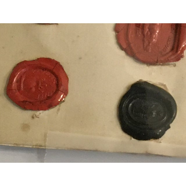 Antique English 29 Red and Black Intaglios Wax Seals For Sale - Image 10 of 12
