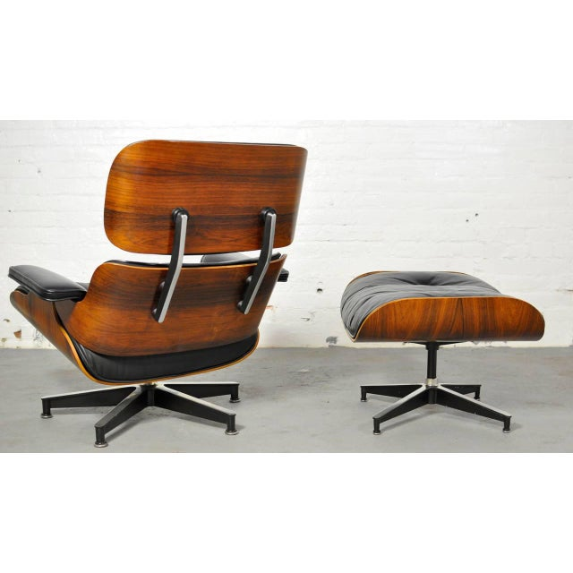 Vintage Rosewood Lounge Chair and Ottoman by Charles Eames - Image 2 of 10
