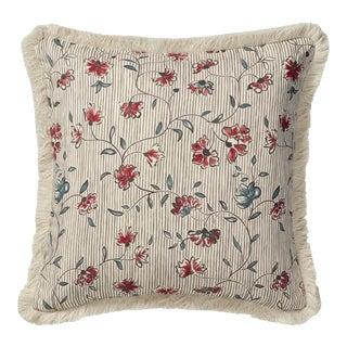 "OKA 20"" Square Ashoka Pillow in Charcoal / Venetian Red"