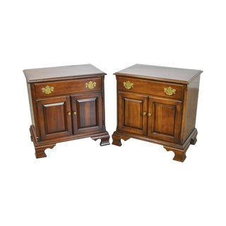 Statton Old Towne Solid Cherry Traditional Nightstands - A Pair