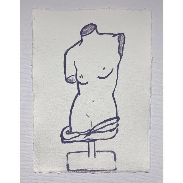 2010s Lindsey Weicht Female Sculpture No. 1 Drawing For Sale - Image 5 of 5