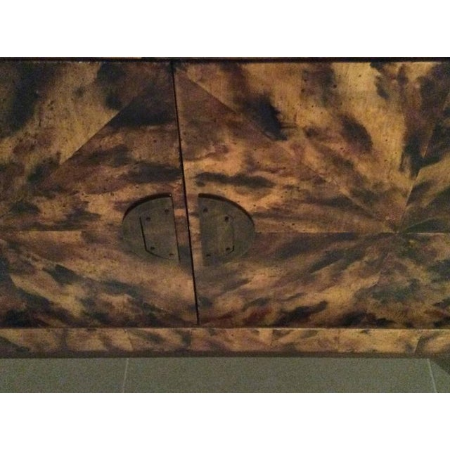 Gold Mid-Century Modern Brass Tortoise Shell Sideboard For Sale - Image 8 of 12