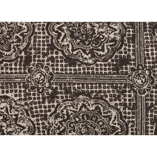 Raoul Textiles Brown Block Print Lumbar Pillow For Sale - Image 4 of 4