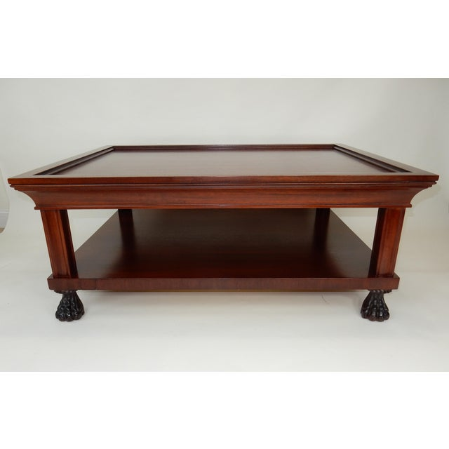 Traditional Two Tier Mahogany Coffee Table by Ralph Lauren 50 Inches For Sale - Image 13 of 13
