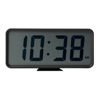 Japanese Muji Large Digital Desk Wall Rectangle Clock Black Boxed New For Sale