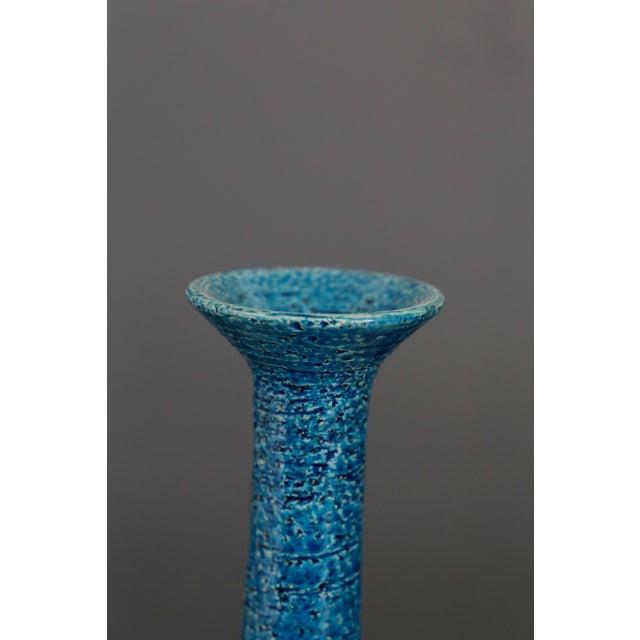 Vintage Blue & Golden Ceramic Bottle by Aldo Londi for Bitossi, 1960 For Sale - Image 6 of 7