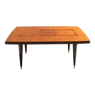 1940s Art Deco Macassar Ebony Writing Desk / Dining Table. For Sale