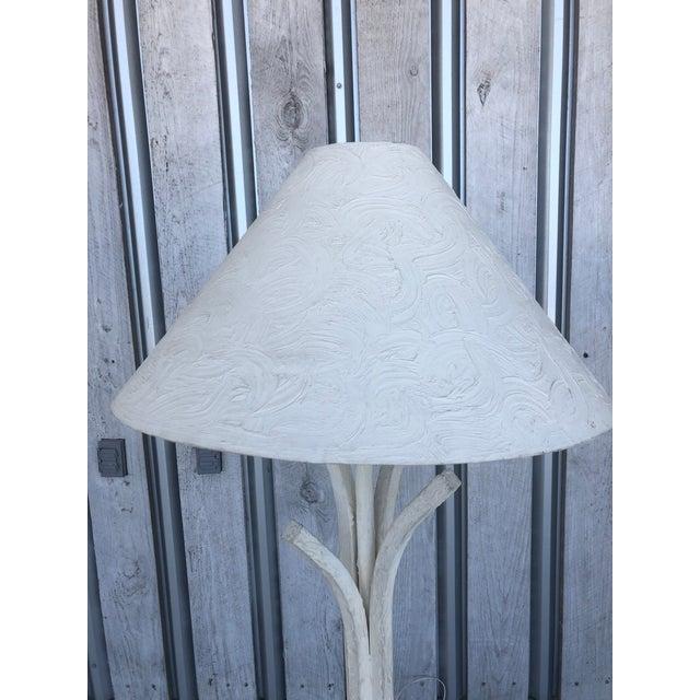 1980's Plaster Floor Lamp For Sale - Image 4 of 6