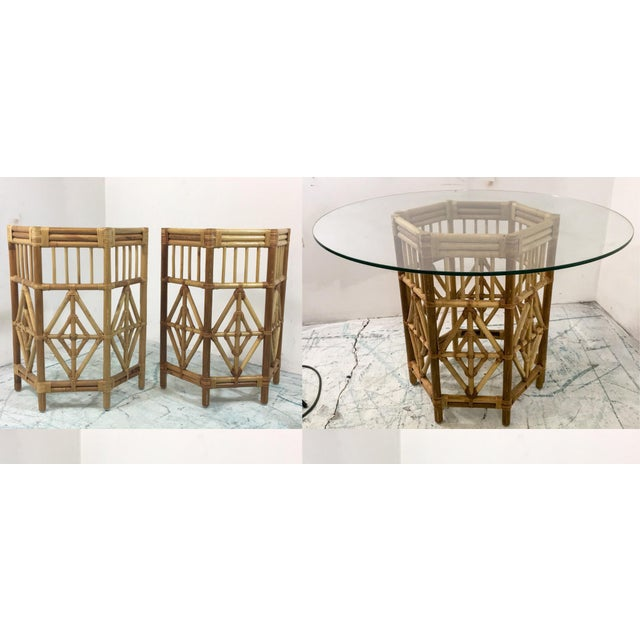 Rattan Consoles or Center Table - A Pair - Image 4 of 5