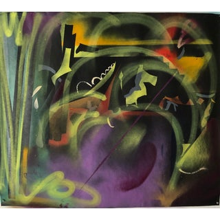 Abstract Oil Painting Original by Erik Sulander 42x36 For Sale