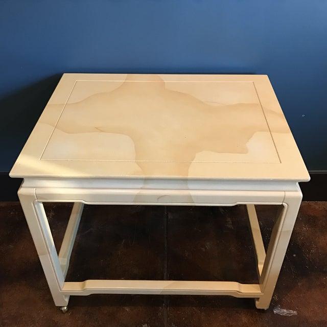 Henredon Chinoiserie Goatskin Lacquer Table - Image 4 of 11