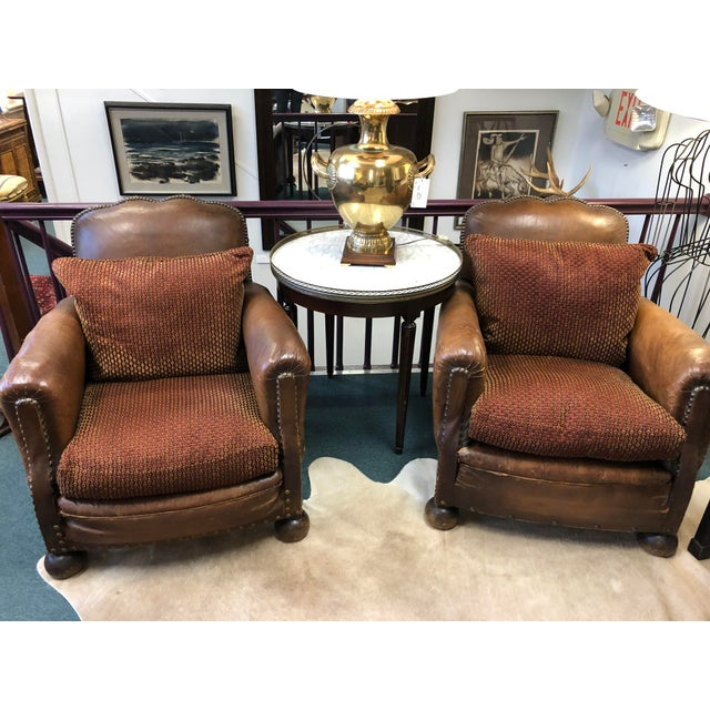 1930s 1930's French Leather Chairs For Sale - Image 5 of 9