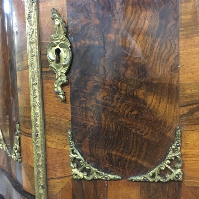 French Antique Miniature French Walnut Two-Door Cabinet For Sale - Image 3 of 8