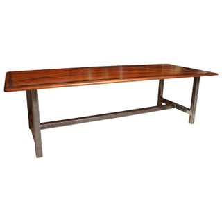 1950s Mid-Century Modern Inlaid Wood Top on Later Metal Base Coffee Table Preview