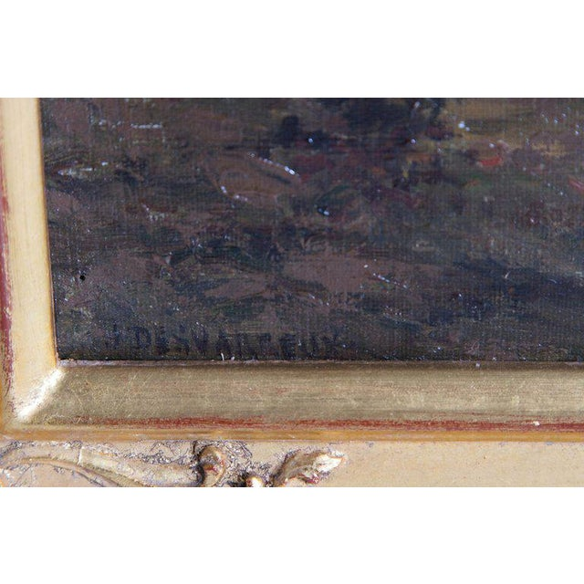 19th Century Oil Painting of Sheep Signed James Desvarreux For Sale - Image 10 of 13