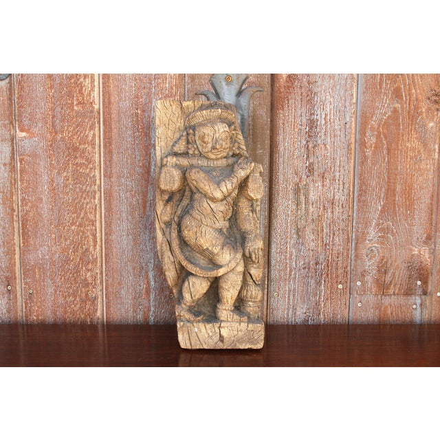 Tribal 18th Century Rajasthani Temple Carving For Sale - Image 3 of 13