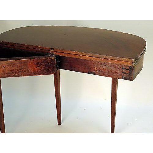 Vintage Satinwood Inlaid Sheraton Game Table For Sale - Image 5 of 7