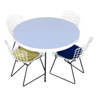 1960s Mid-Century Modern Harry Bertoia Baby Chairs With Table