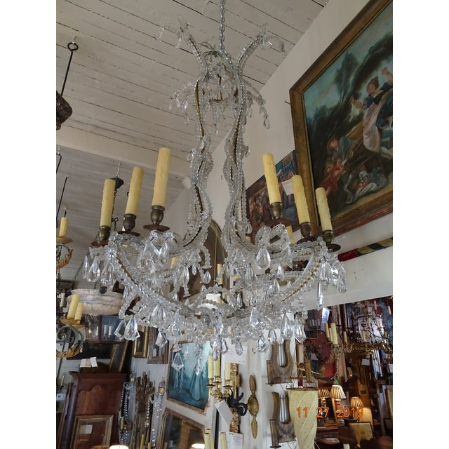 French Crystal Chandelier For Sale - Image 11 of 12