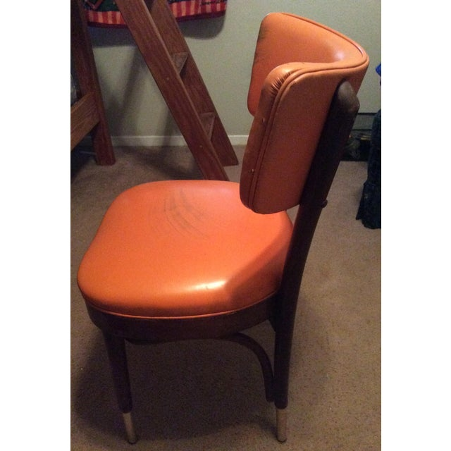 Mid-Century Modern Shelby Williams Vintage Retro Orange Side Chair For Sale - Image 3 of 9