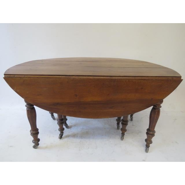 Antique Louis Philippe Dining Table - Image 3 of 8