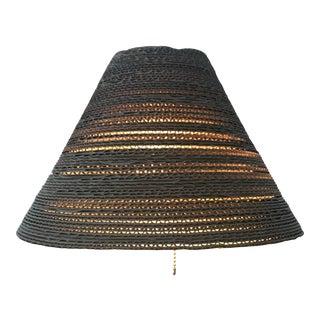 Corrugated Cardboard Light Pendent Natural For Sale
