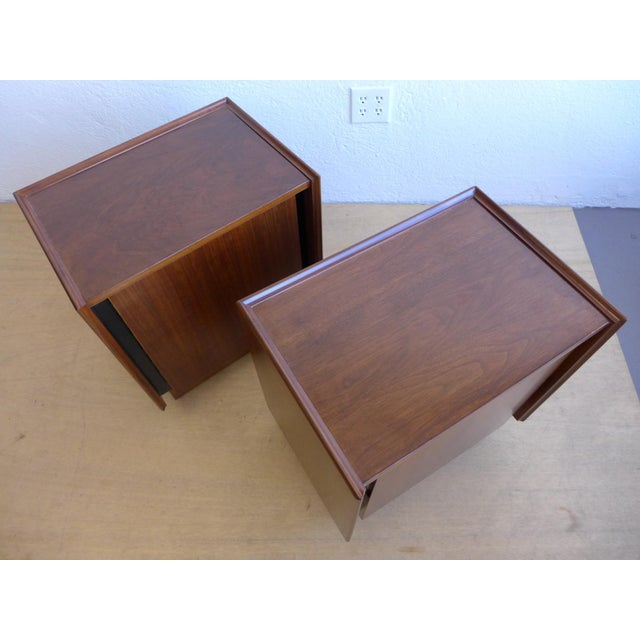 Dillingham Walnut Nightstands - A Pair For Sale - Image 7 of 11