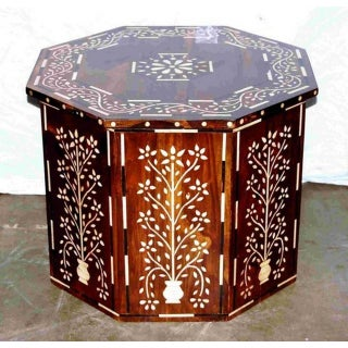 Octagonal Bone Inlay Table 2 Preview